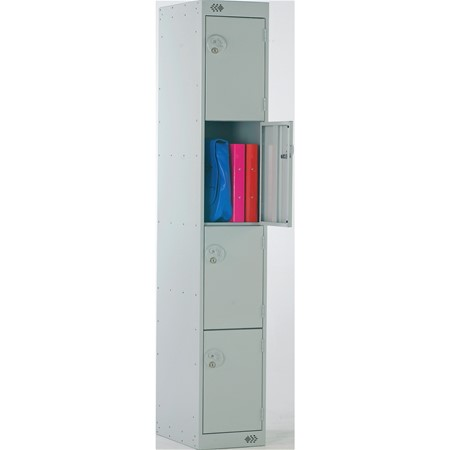 "product image:""Four Door Locker with Cam Lock - 300 x 450mm, Nest of 1"""